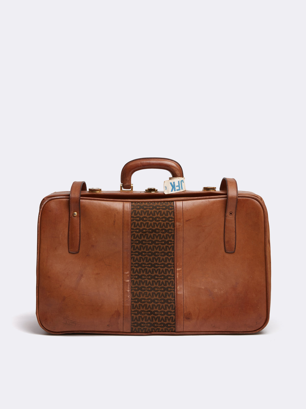 Mark Cross Archive Leather Luggage Travel Bag Cognac Back