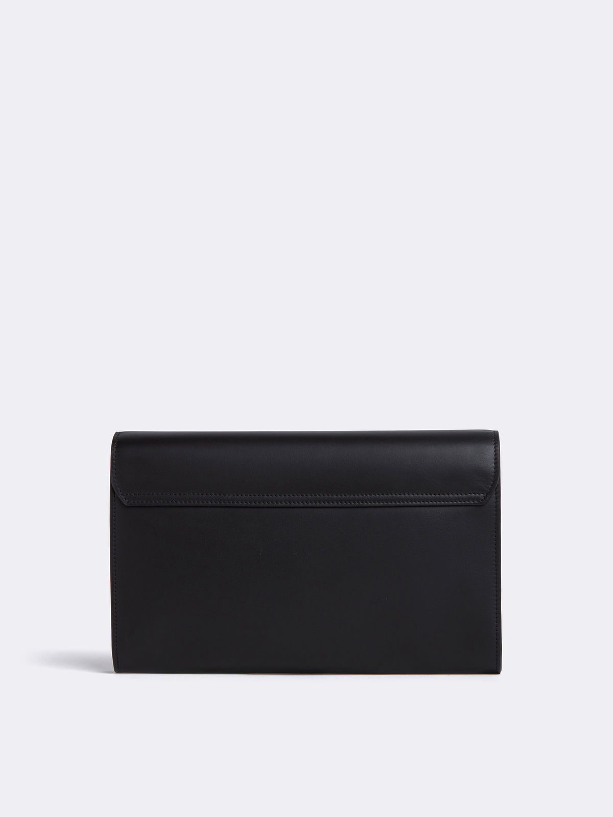 Mark Cross Beacon Historical Stamp Leather Clutch Soft Calf Black Back
