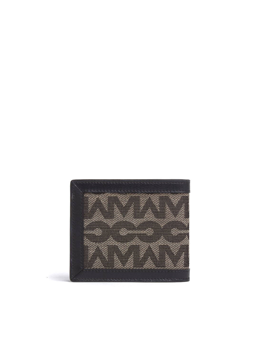 Terry Bi-Fold MC Jacquard & Leather Wallet