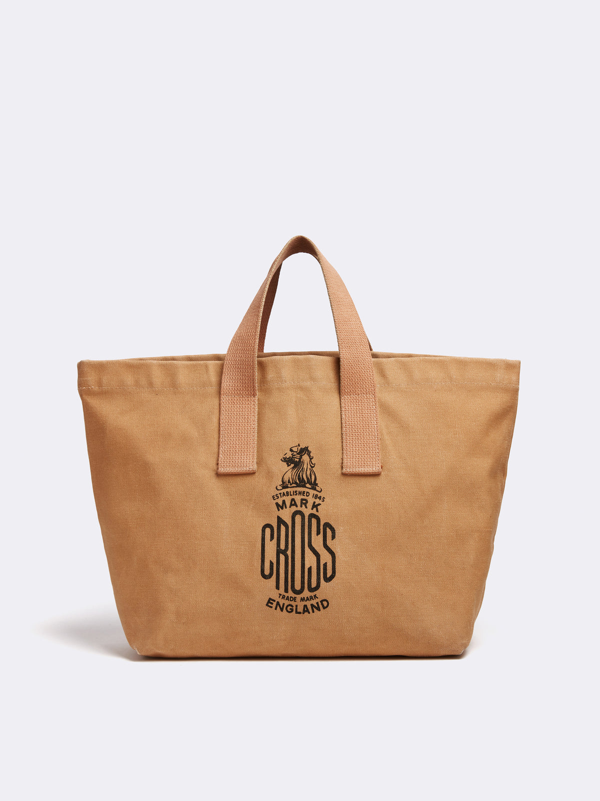 Mark Cross Archive Canvas Tote Bag Tan Front