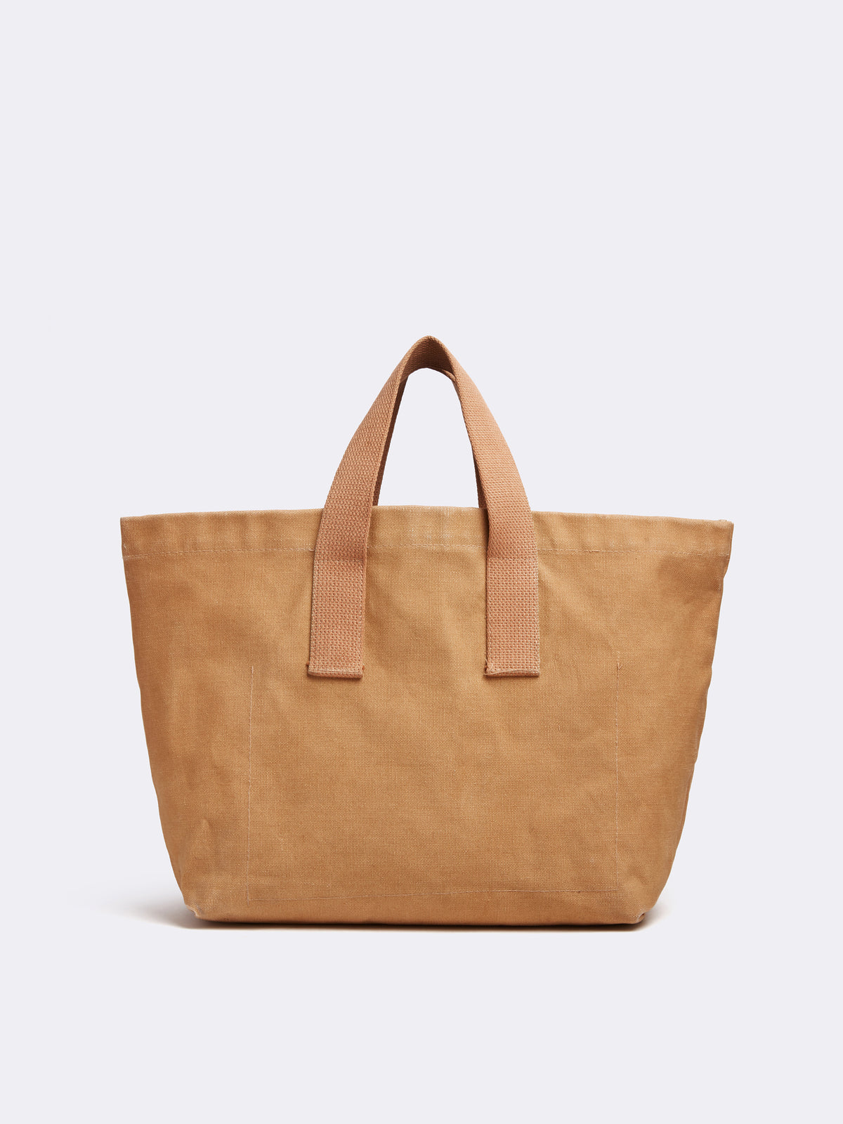 Mark Cross Archive Canvas Tote Bag Tan Back