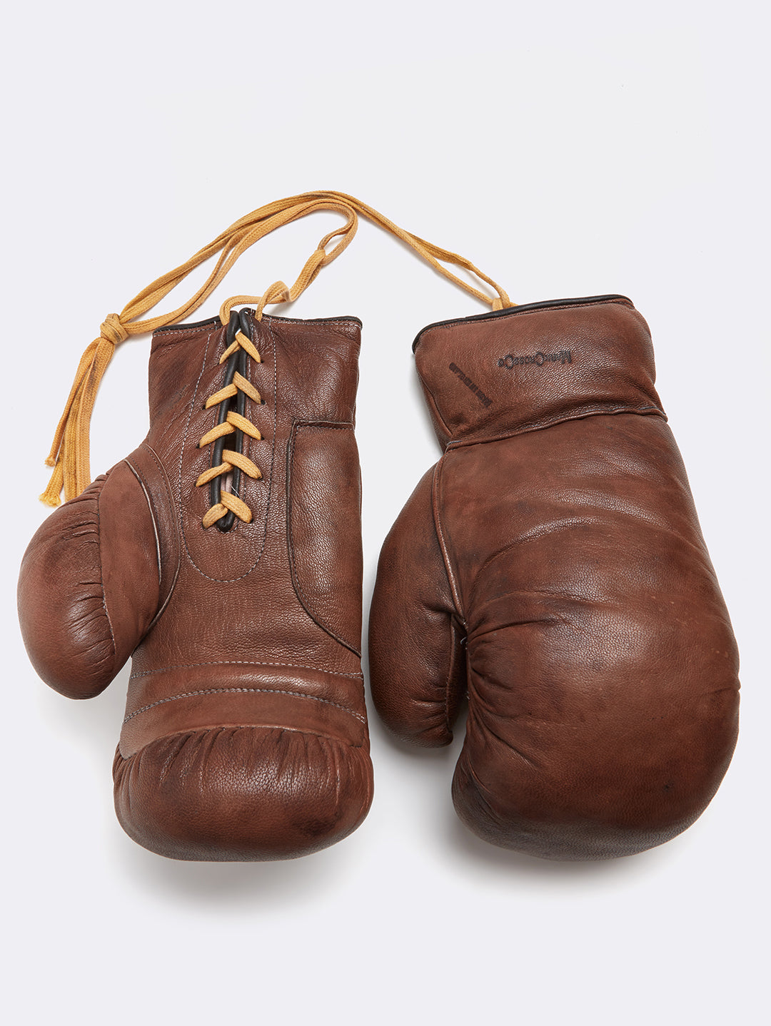 Mark Cross Leather Boxing Gloves Chocolate Front