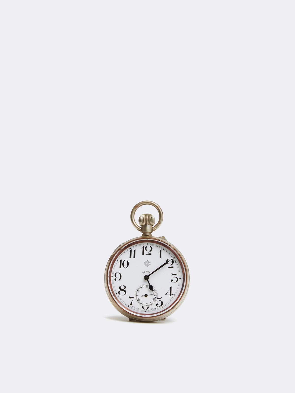 Mark Cross Archive Pocket Watch Metal Silver Front