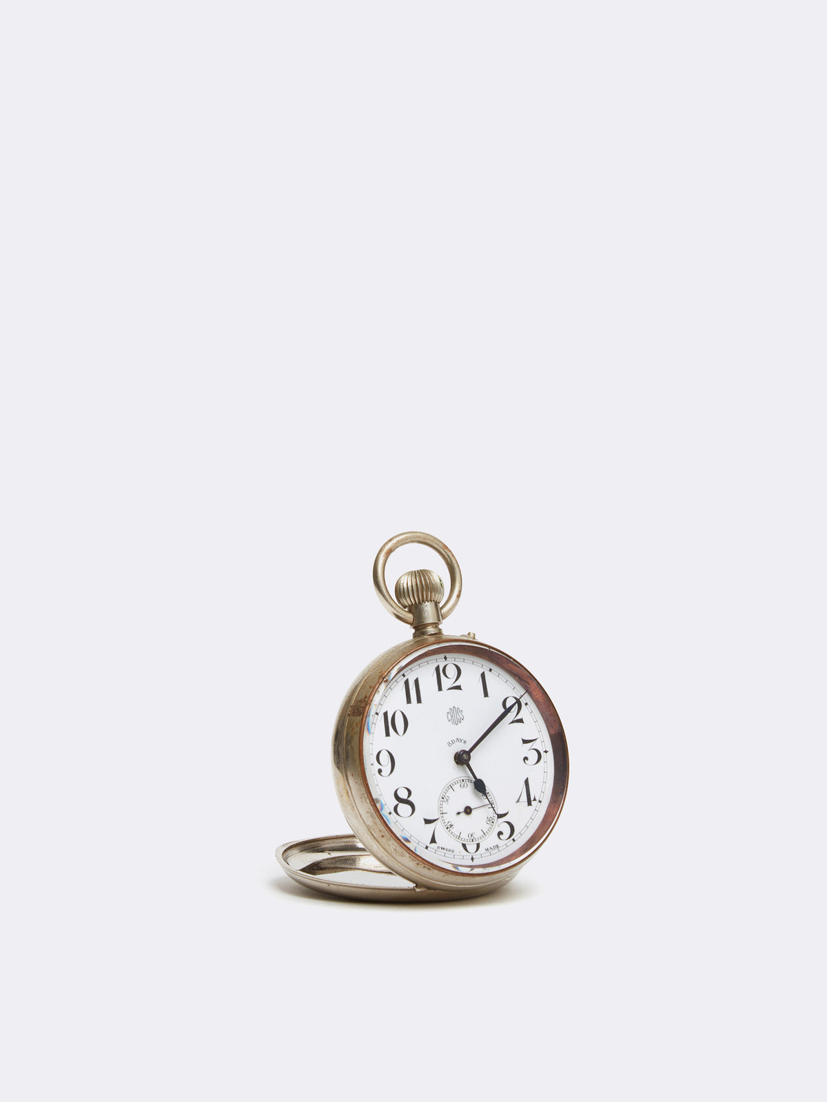 Mark Cross Archive Pocket Watch Metal Silver Side