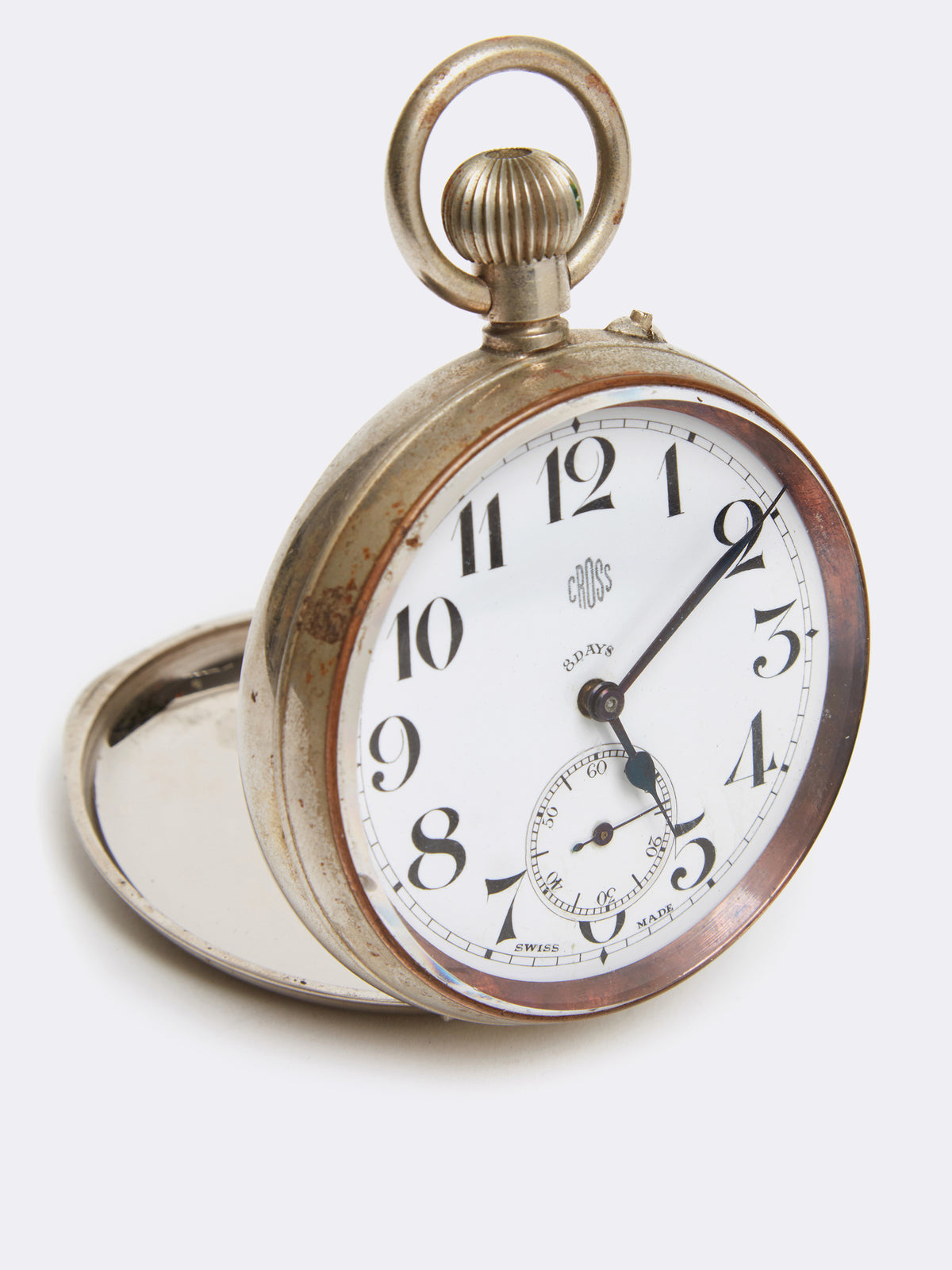 Mark Cross Archive Pocket Watch Metal Silver Detail