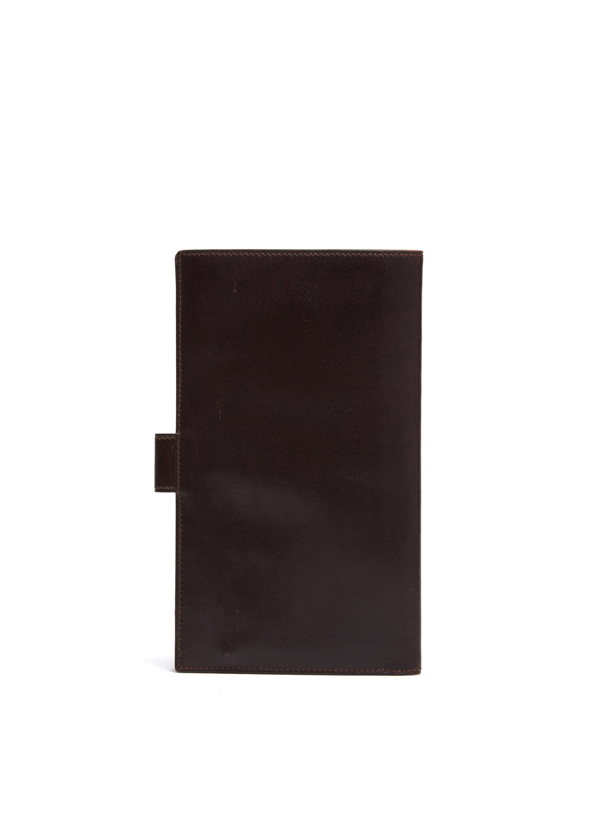 Mark Cross Vintage Leather Travel Wallet Chocolate Back