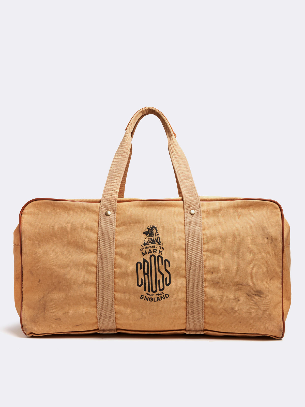 Mark Cross Archive Canvas Duffle Bag Tan Front