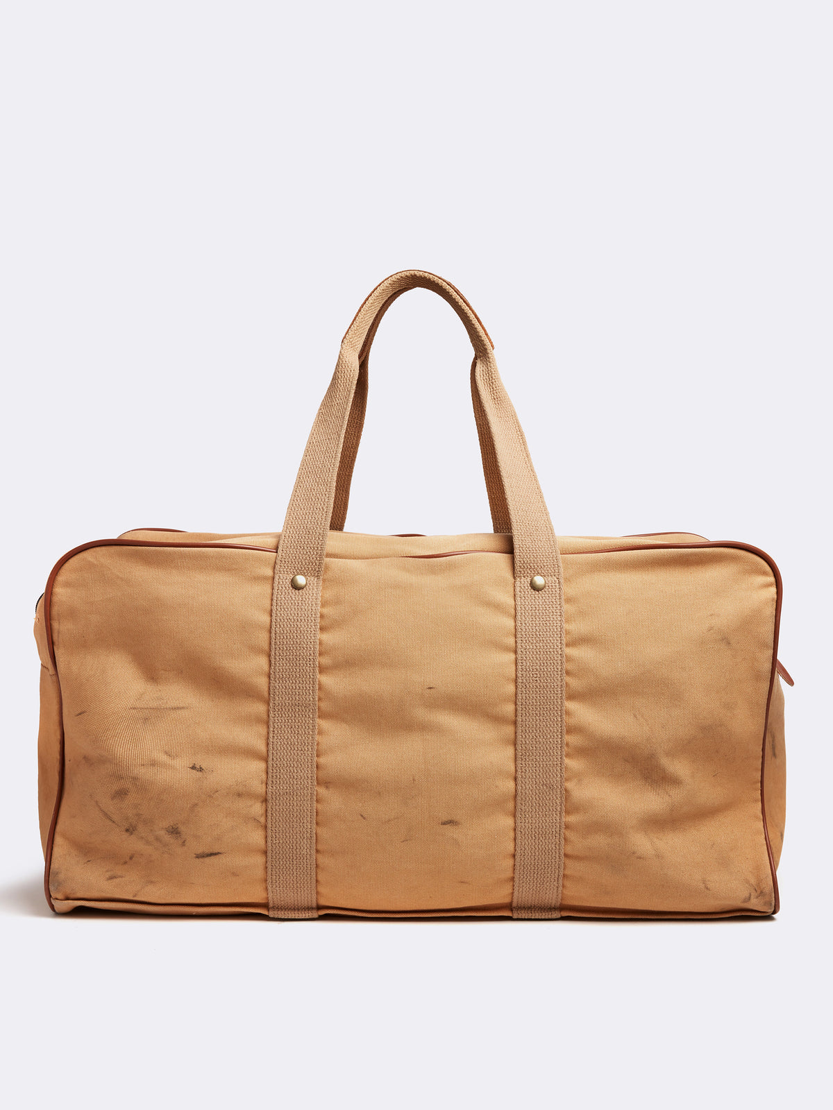 Mark Cross Archive Canvas Duffle Bag Tan Back