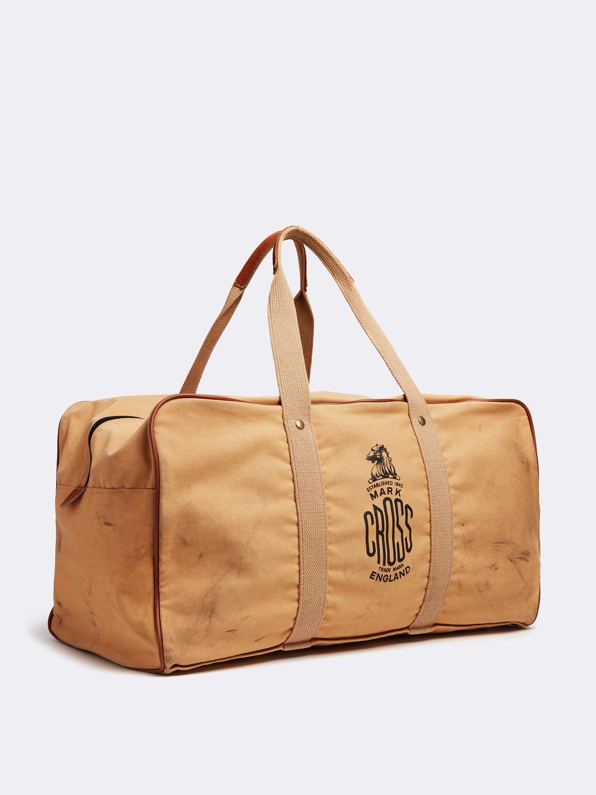 Mark Cross Archive Canvas Duffle Bag Tan Side