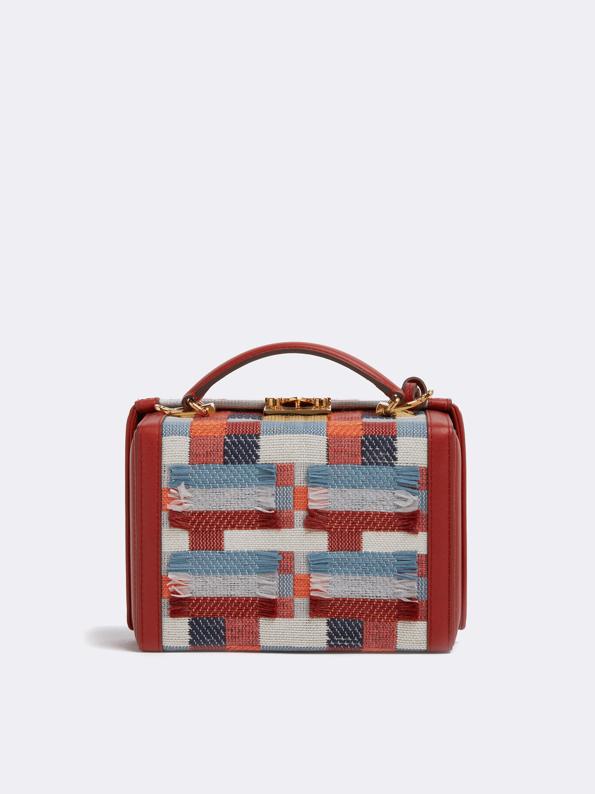 Grace Small Handwoven & Leather Box Bag