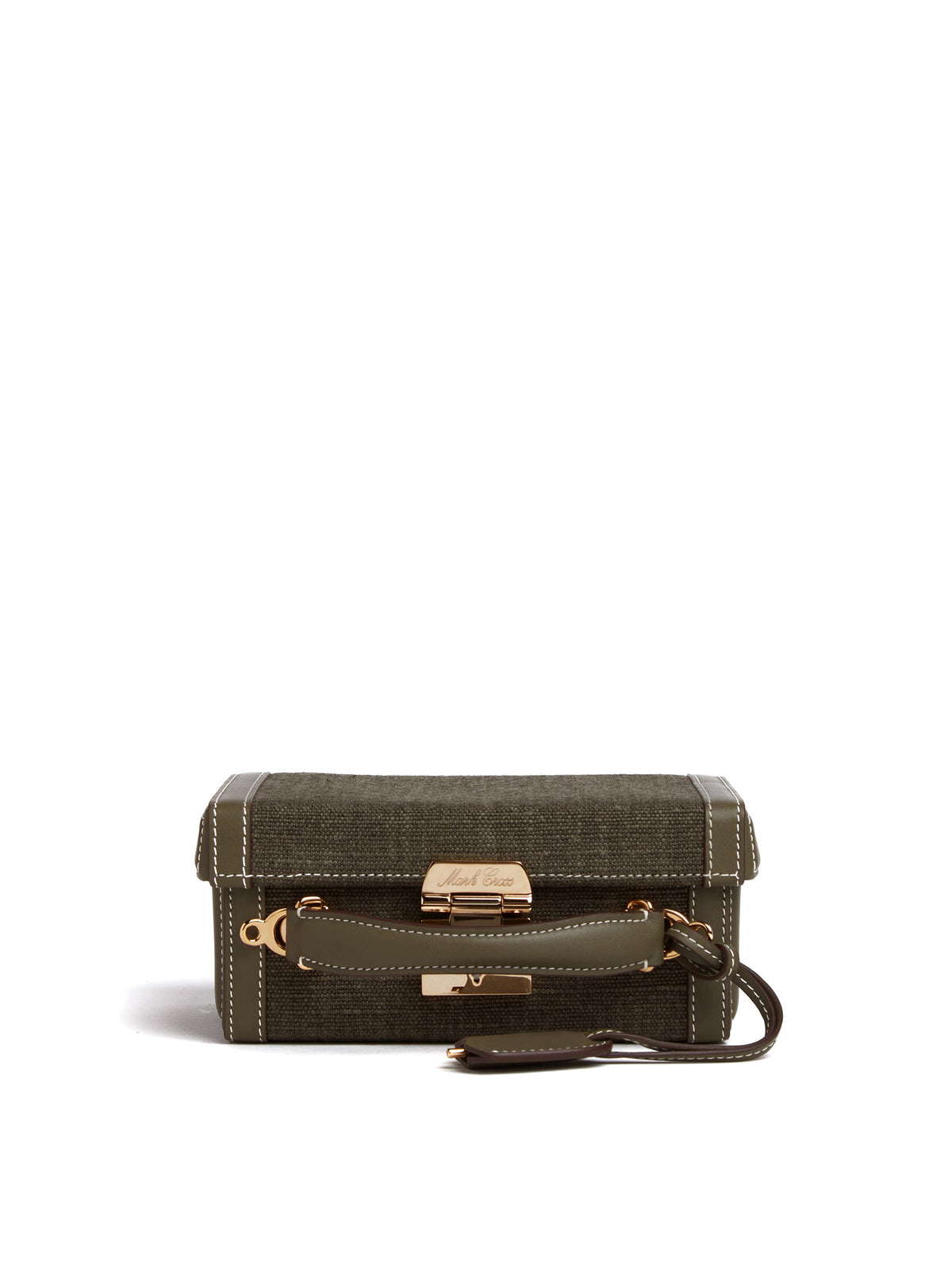 Grace Small Linen & Leather Box Bag