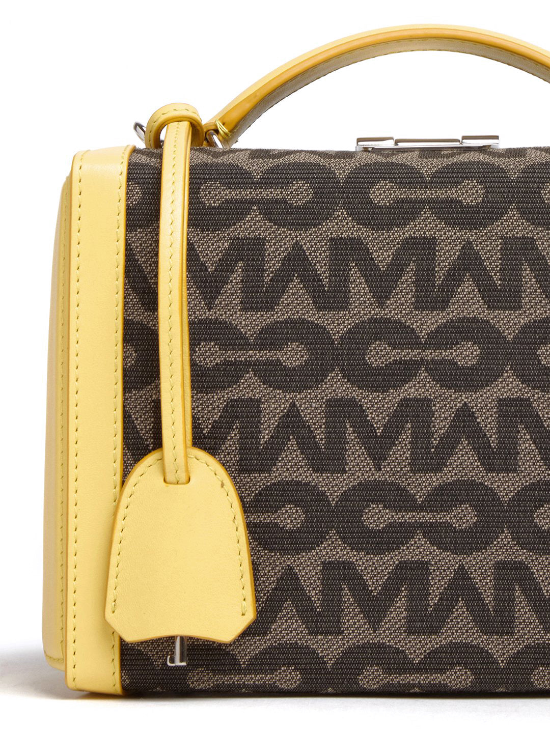 Grace Small MC Jacquard & Leather Box Bag