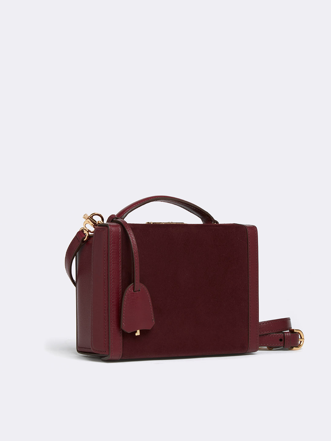 Grace Small Suede & Leather Box Bag