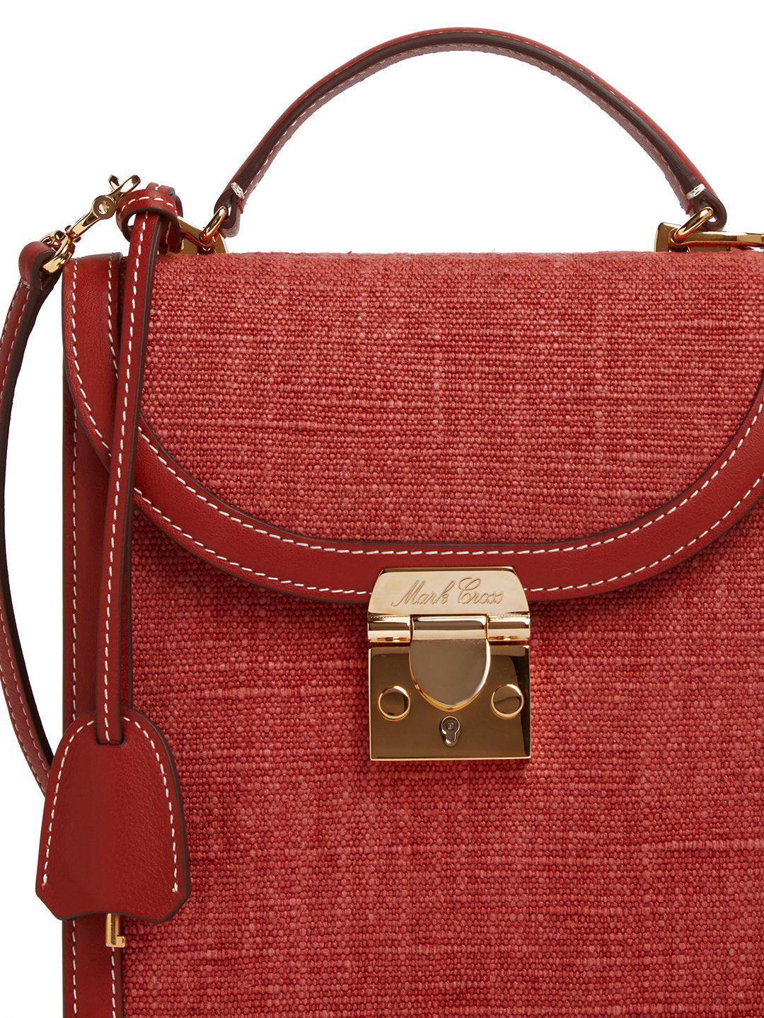 Uptown Linen & Leather Crossbody Bag
