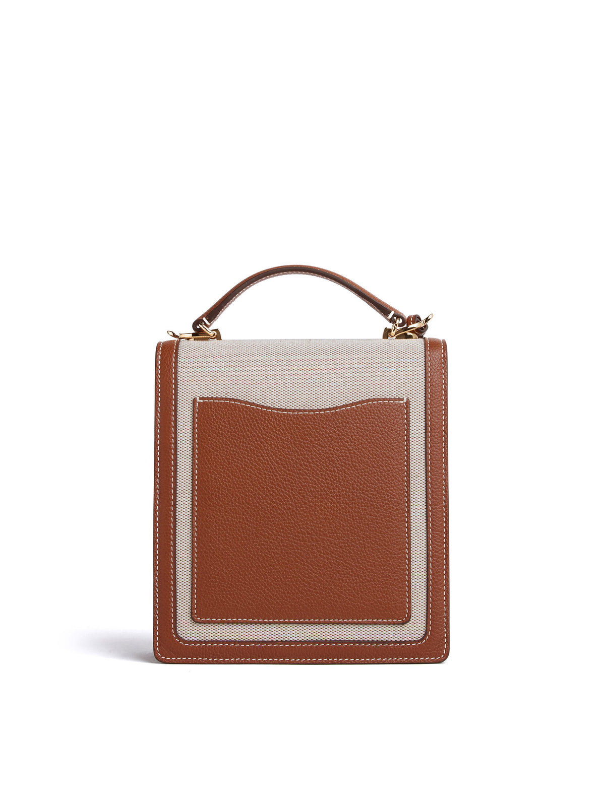 Uptown Birdseye & Leather Crossbody Bag