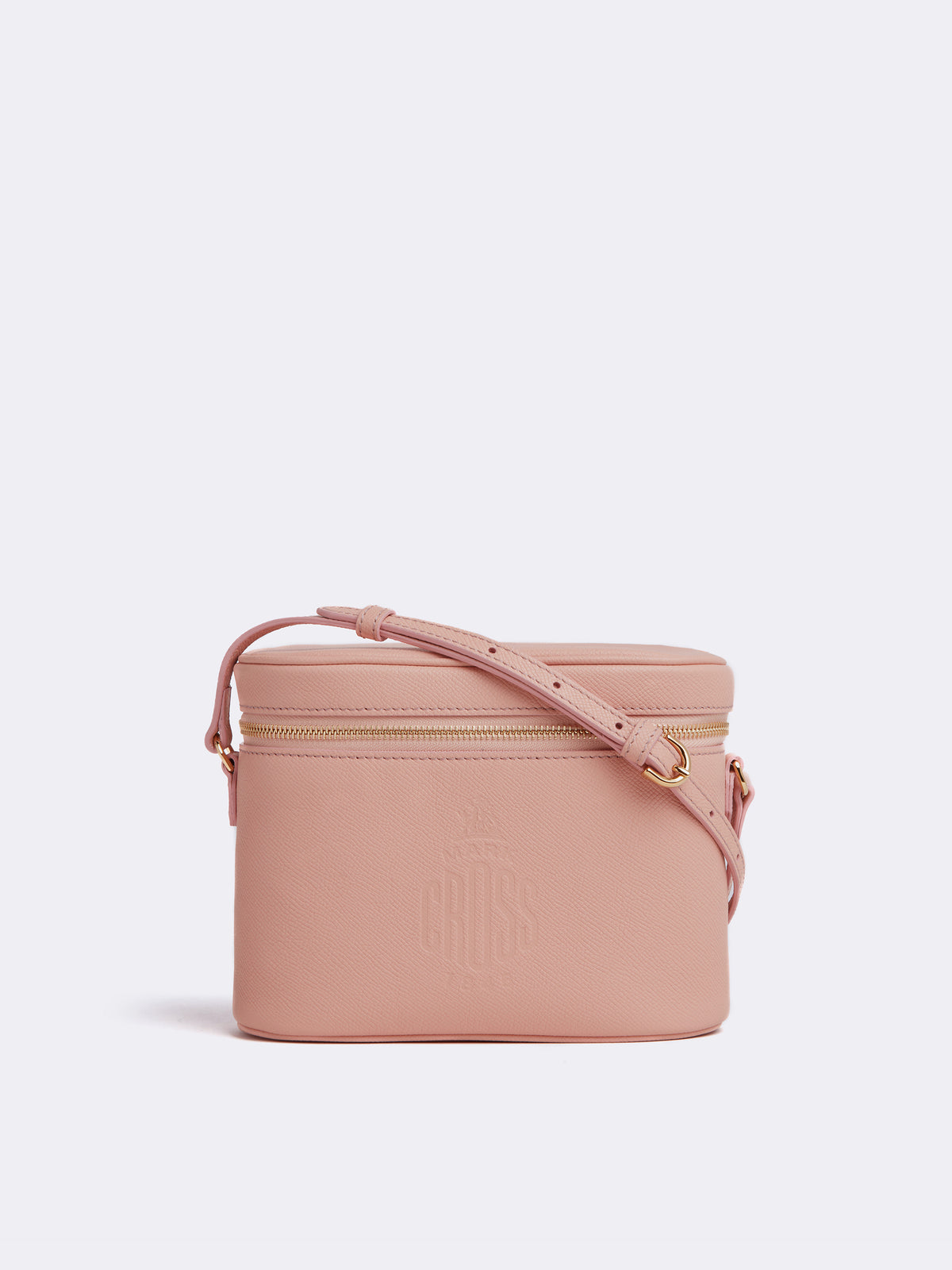 Mark Cross Ginny Leather Crossbody Bag Soft Saffiano Blush Front