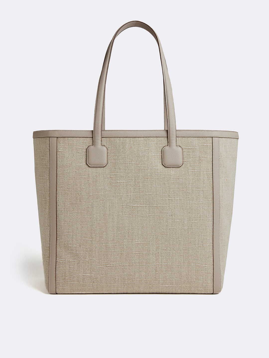 Antibes Linen & Leather Tote Bag
