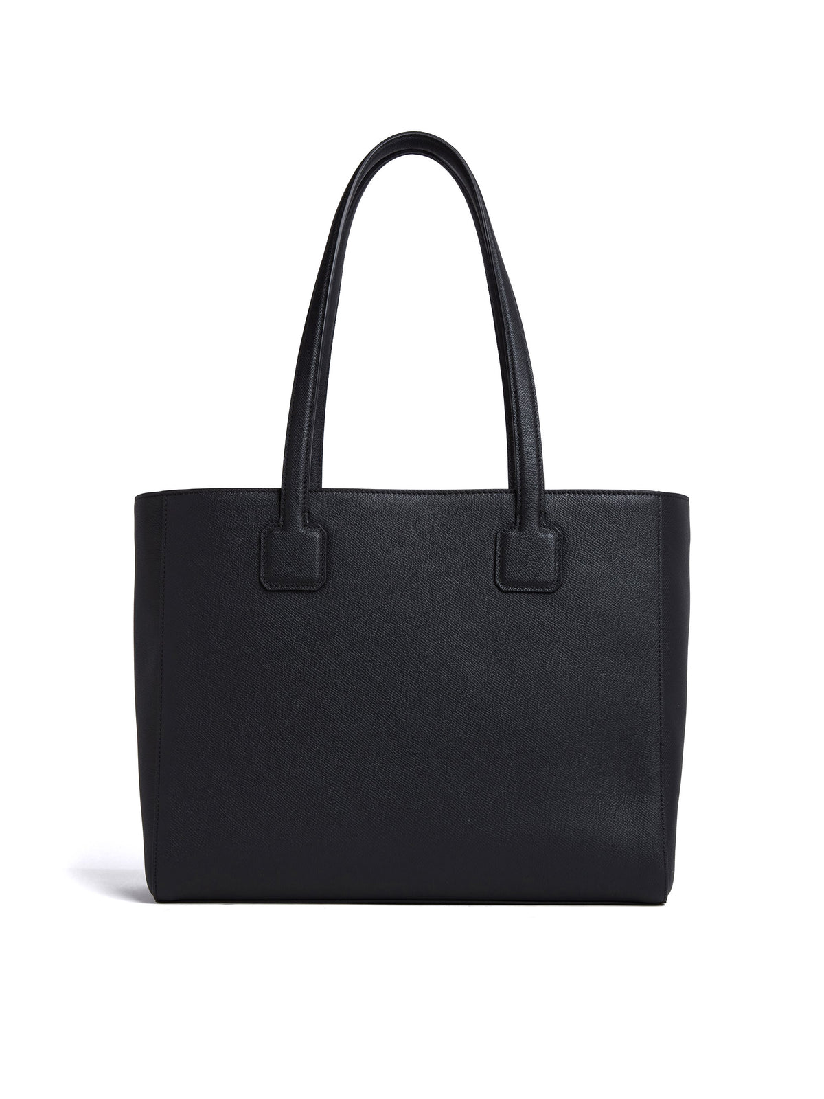 Mark Cross Cannes Leather Tote Bag Soft Saffiano Black Back