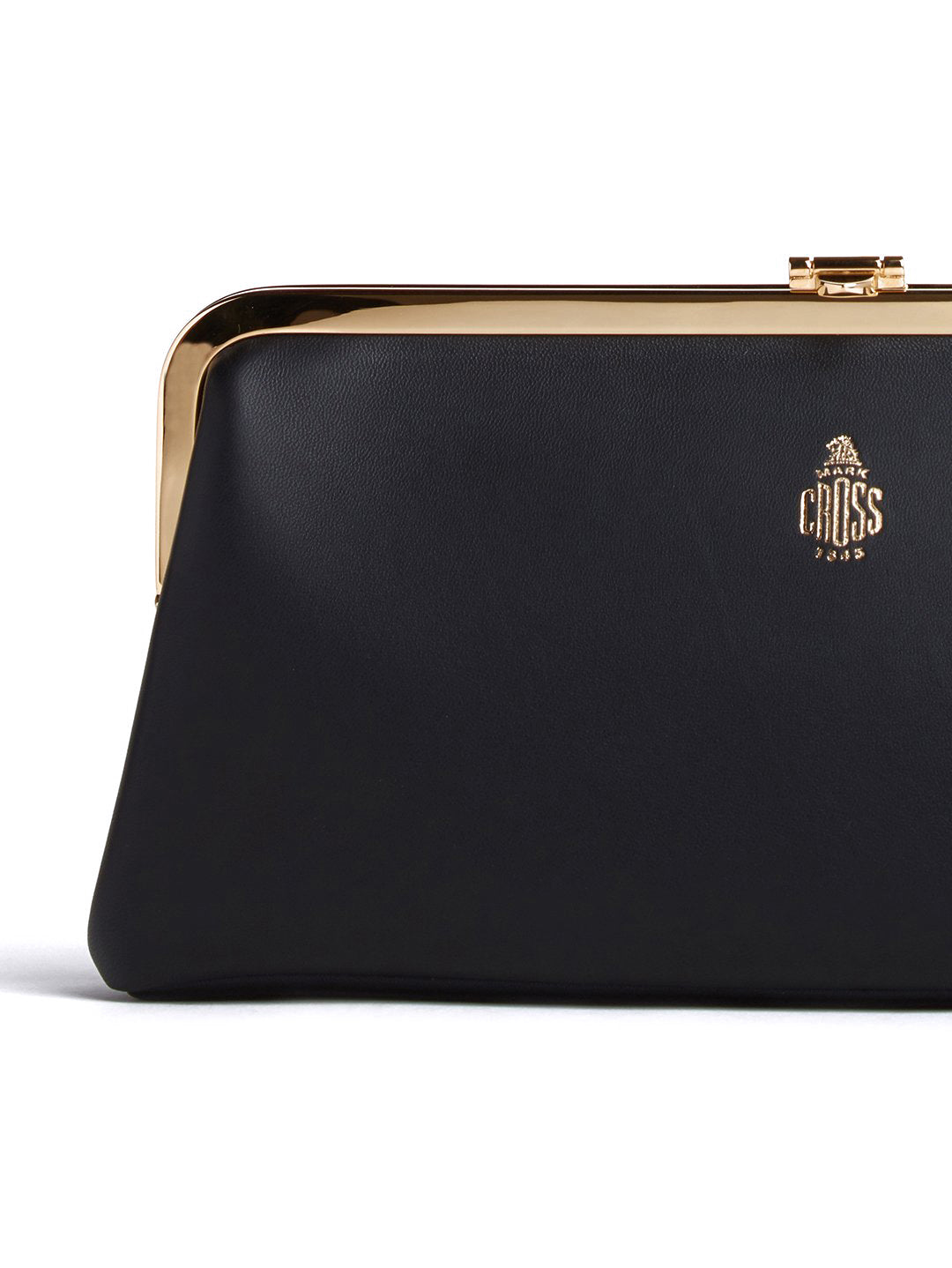 Mark Cross Susanna Leather Frame Clutch Nappa Black Detail