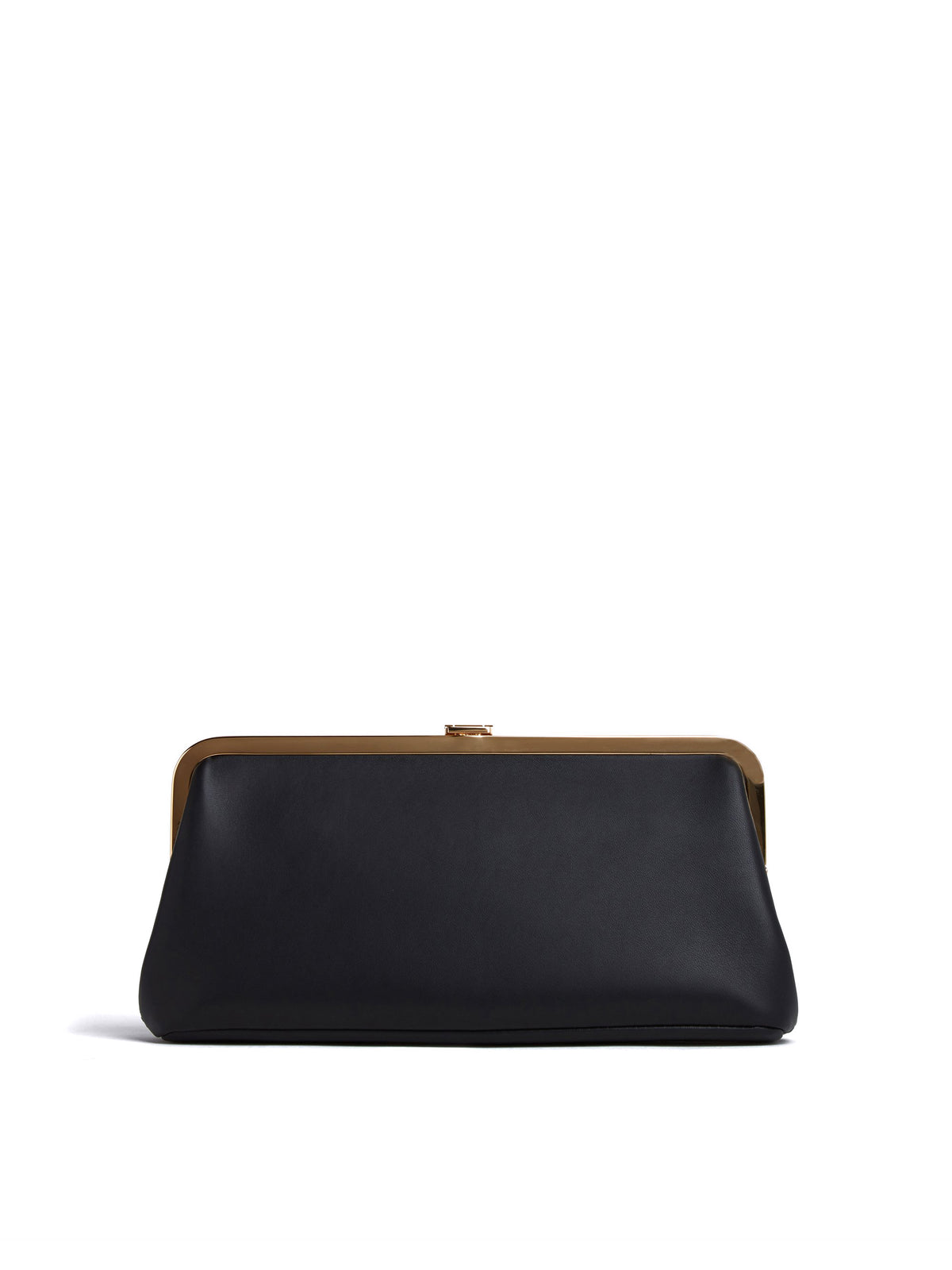 Mark Cross Susanna Leather Frame Clutch Nappa Black Back