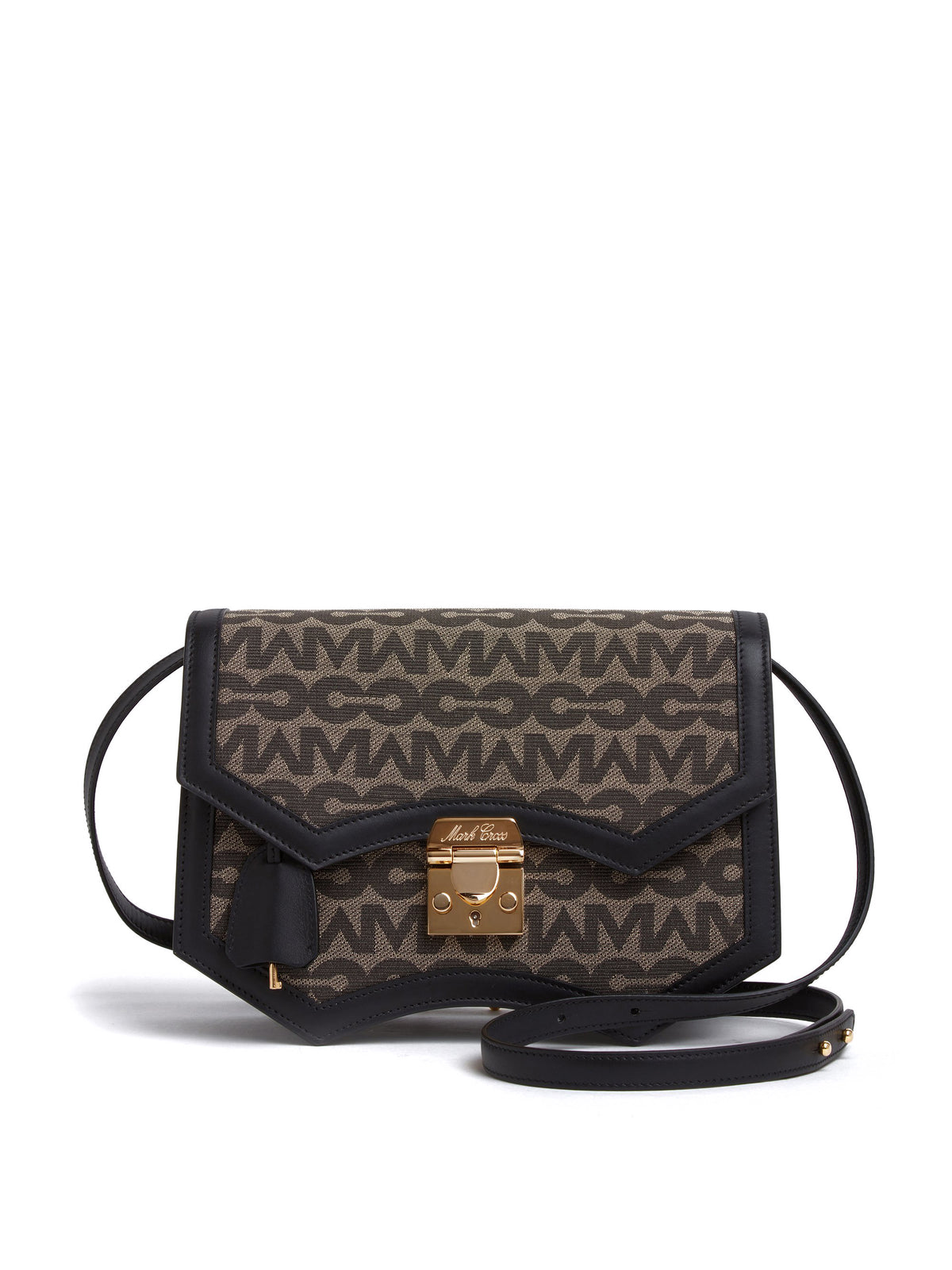 Madeline MC Jacquard & Leather Crossbody Bag