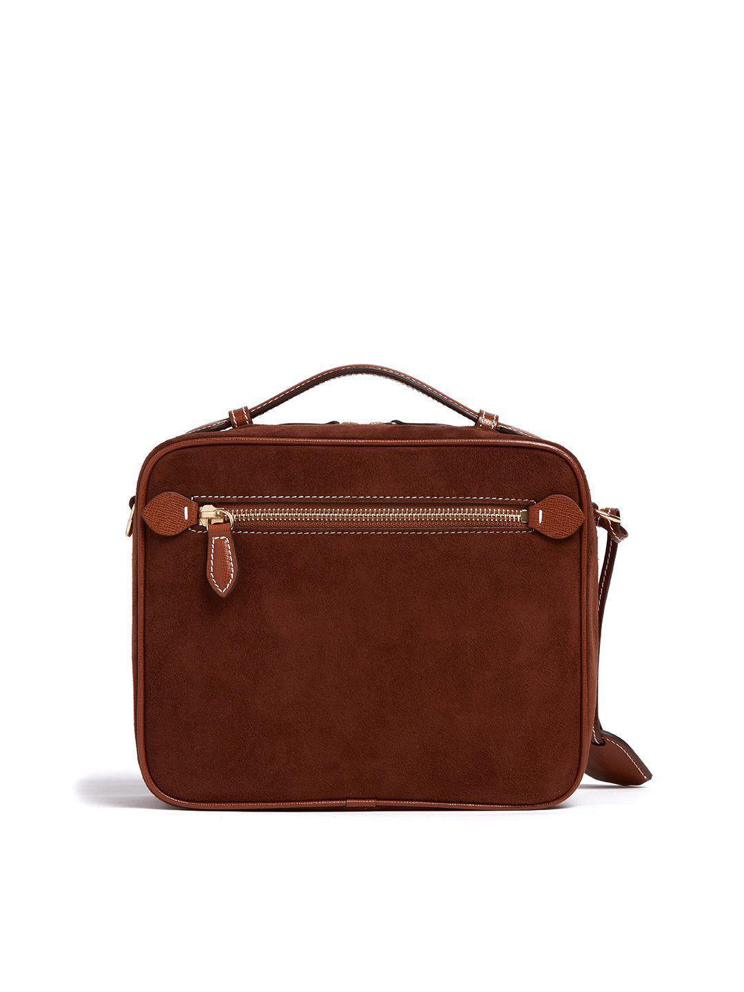 Madison Suede & Leather Crossbody Bag