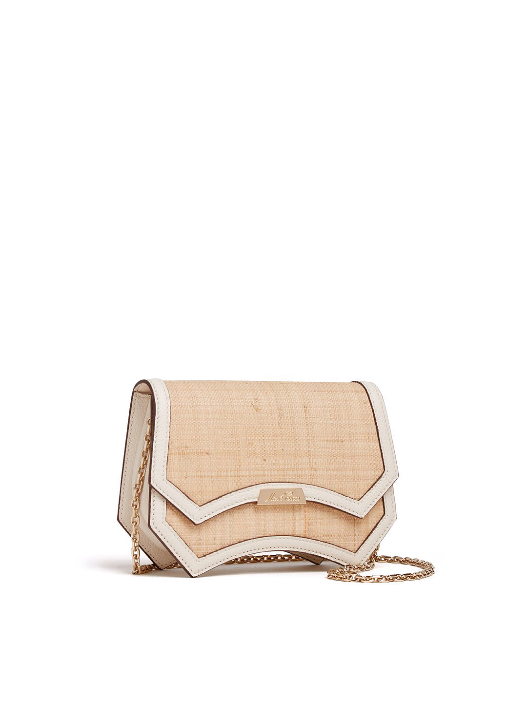 Madeline Evening Raffia & Leather Clutch
