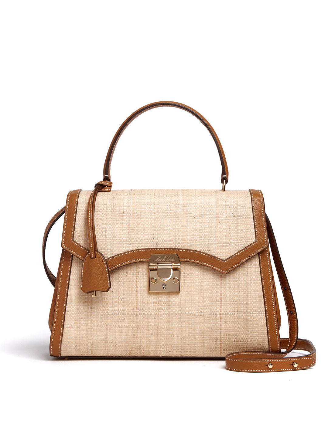 Madeline Lady Raffia & Leather Top Handle Bag