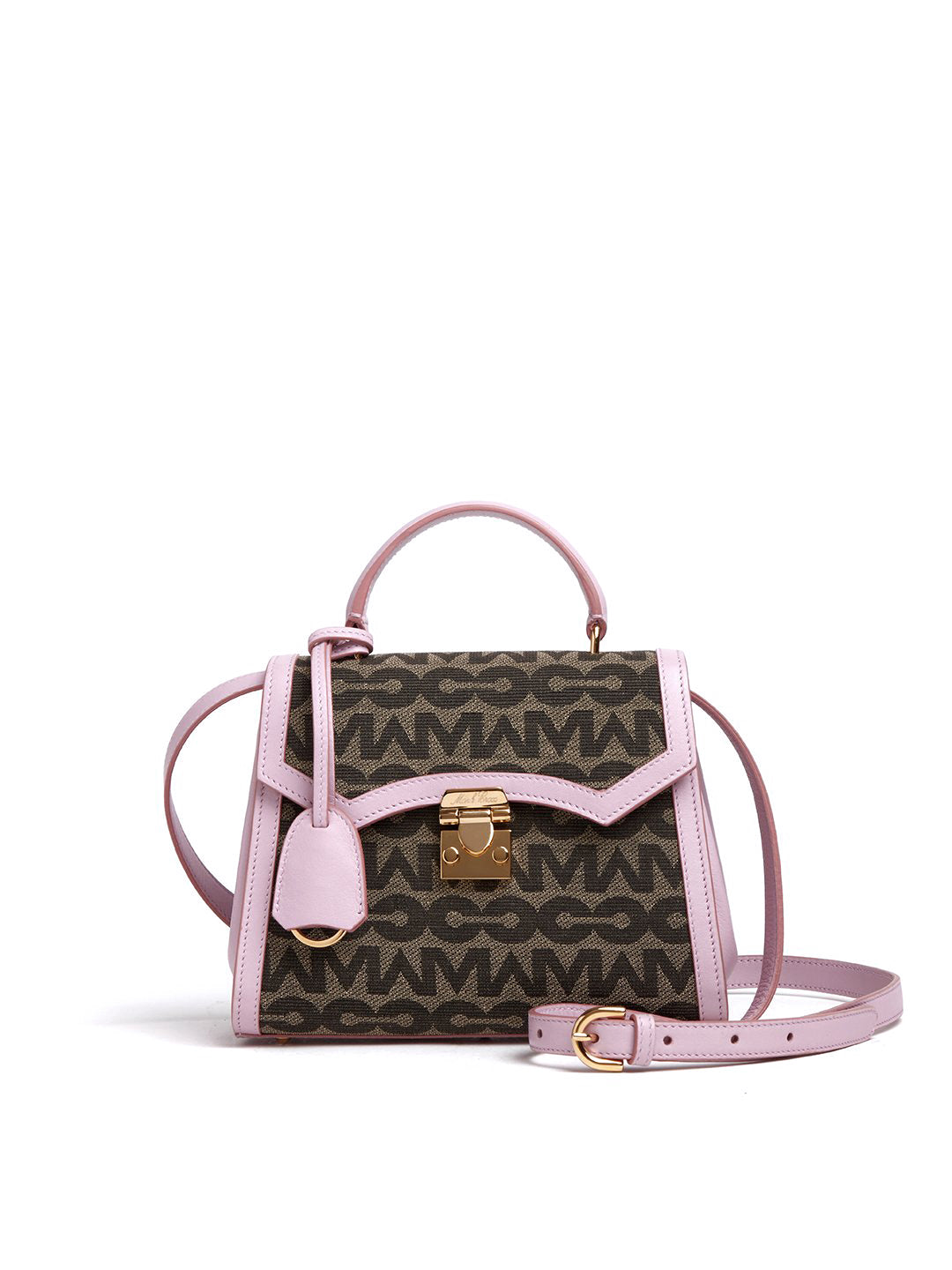 Madeline Mini Lady MC Jacquard & Leather Top Handle Bag