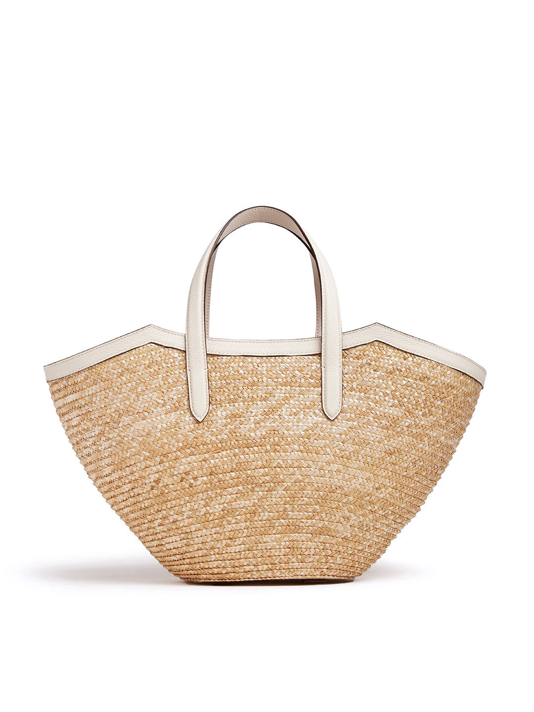 Madeline Straw & Leather Basket Bag