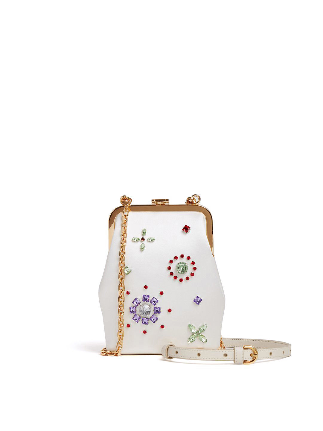 Susanna Crossbody Satin Frame Pouch Bag
