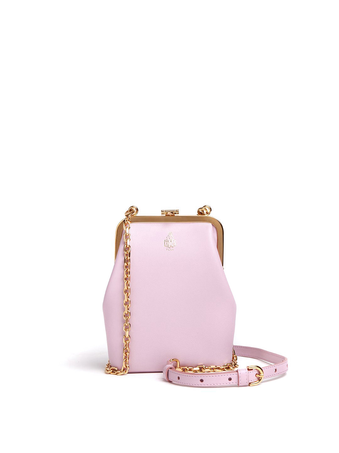 Susanna Crossbody Leather Frame Pouch Bag