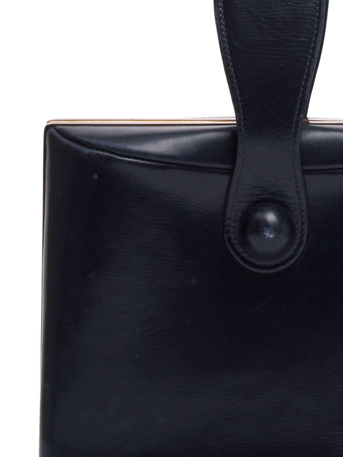 Mark Cross Archive Leather Top Handle Bag Black Detail