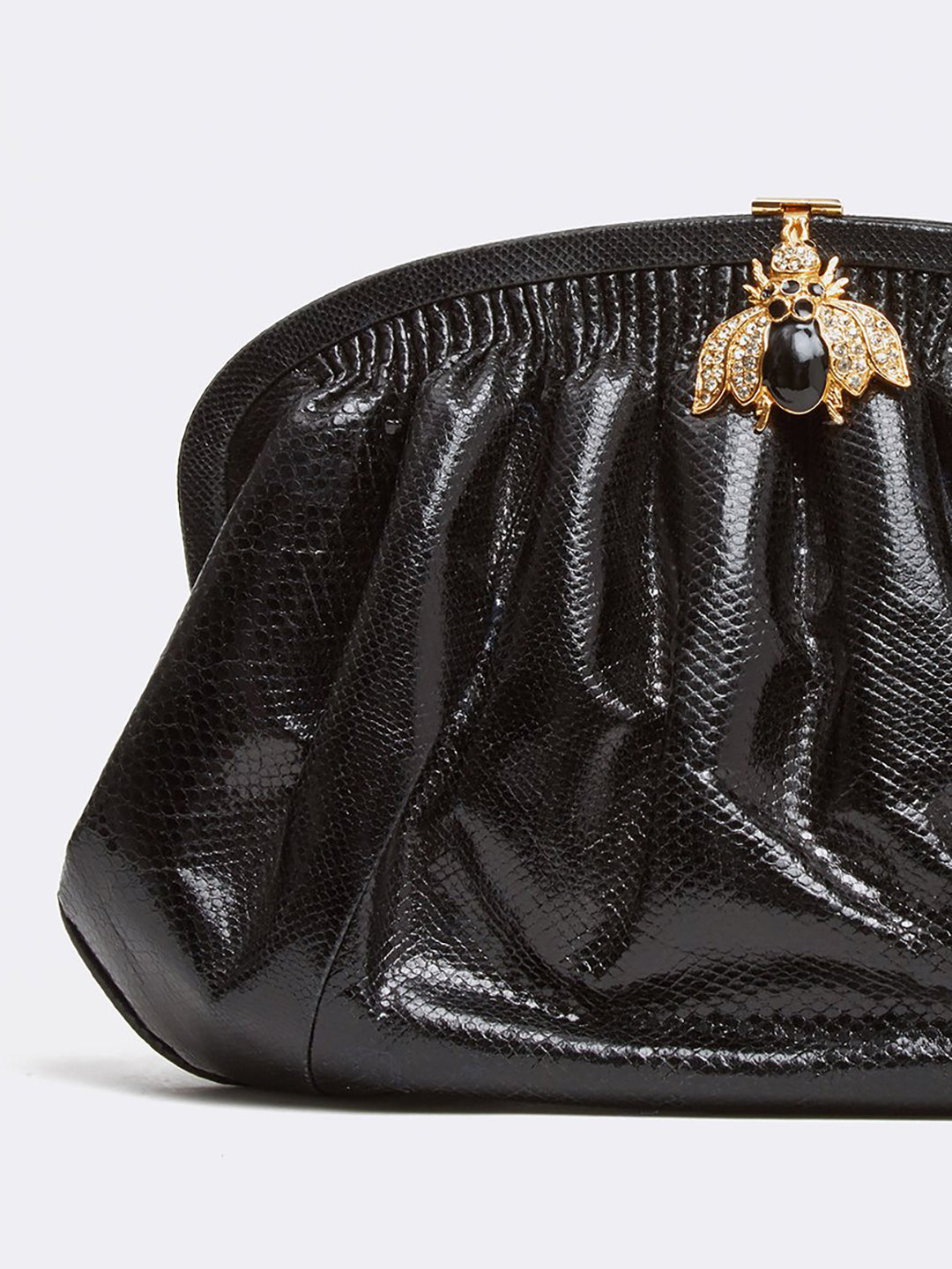 Archive Pleated Handbag With Beetle Embellishment