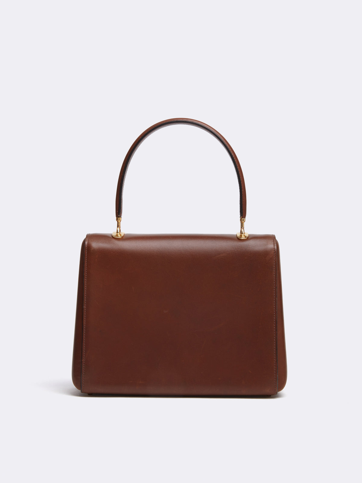 Mark Cross Archive Leather Top Handle Bag Cognac Back
