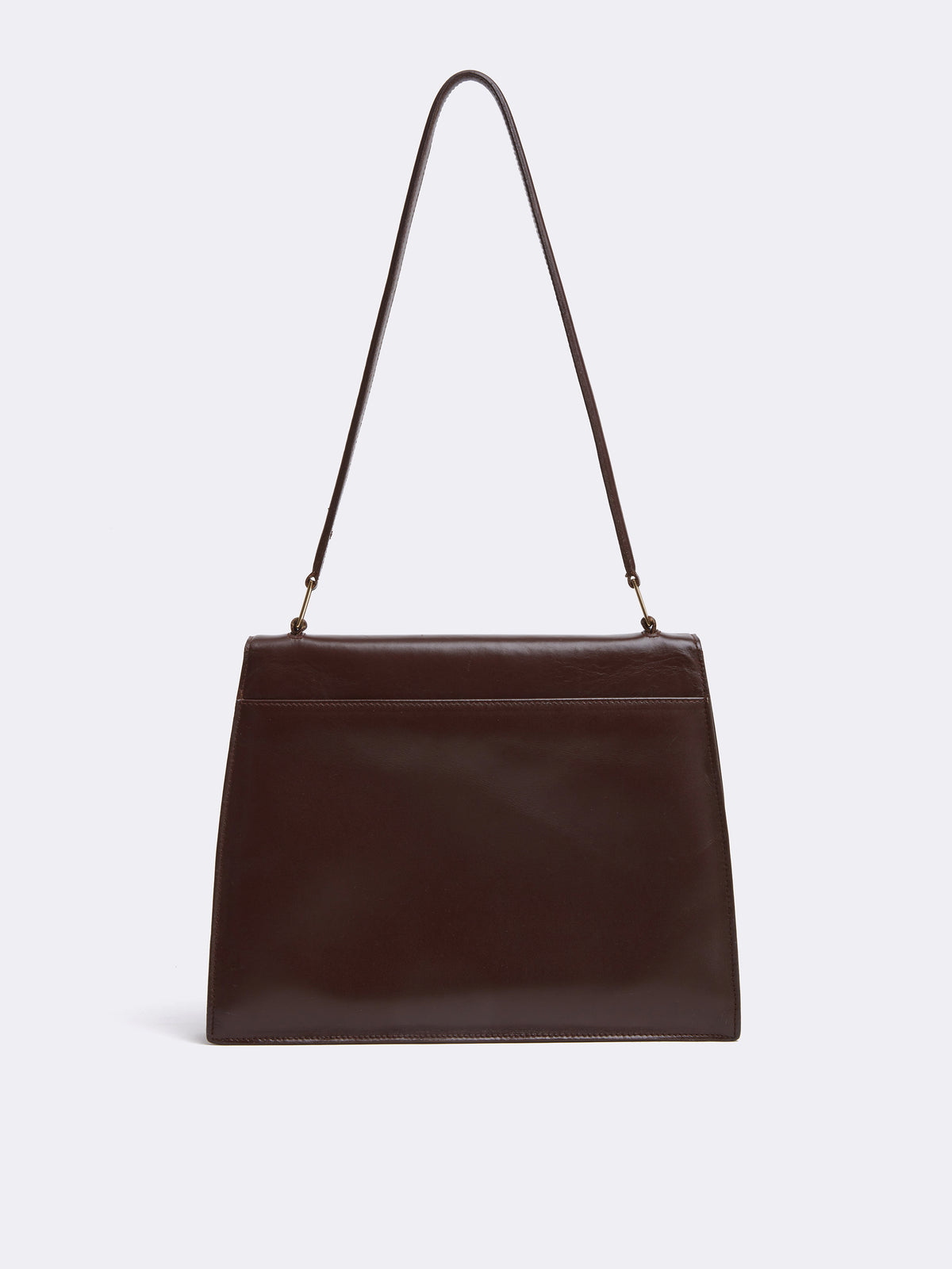 Mark cross Archive Leather Shoulder Bag Chocolate Back