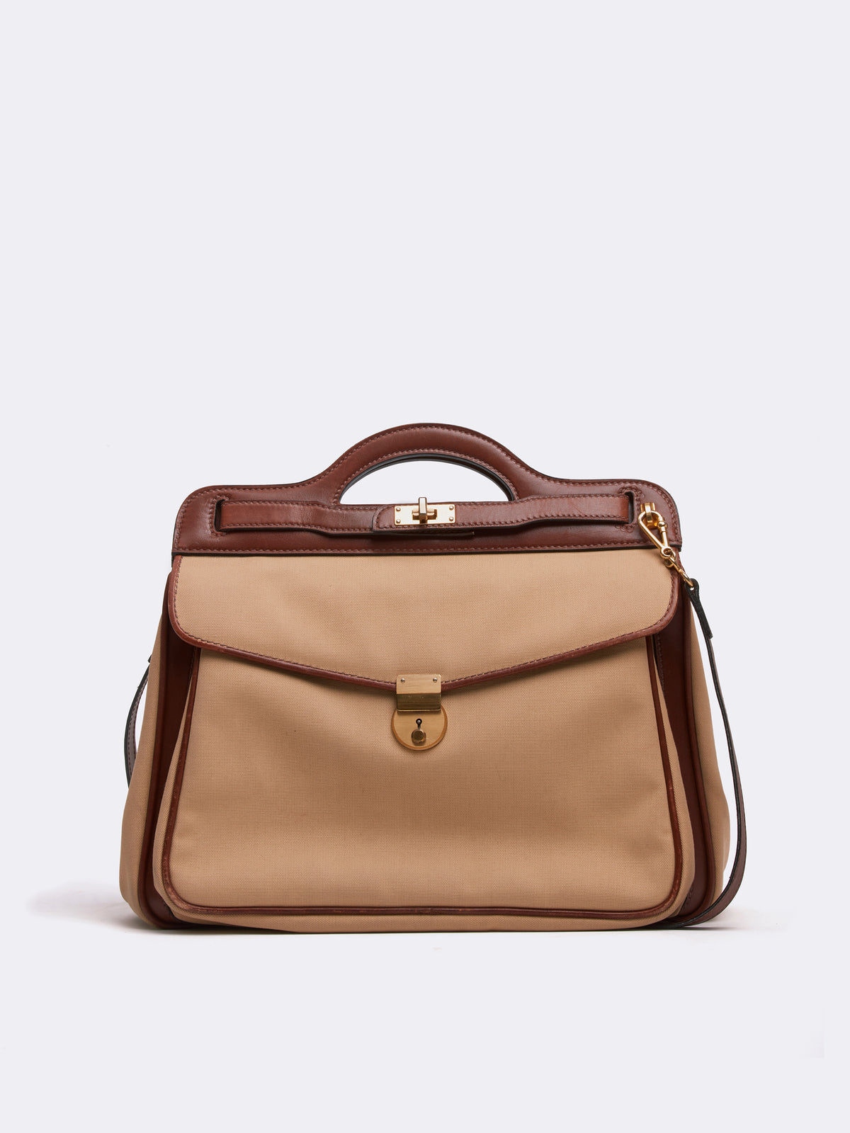 Mark Cross Archive Leather Handbag Cognac Front