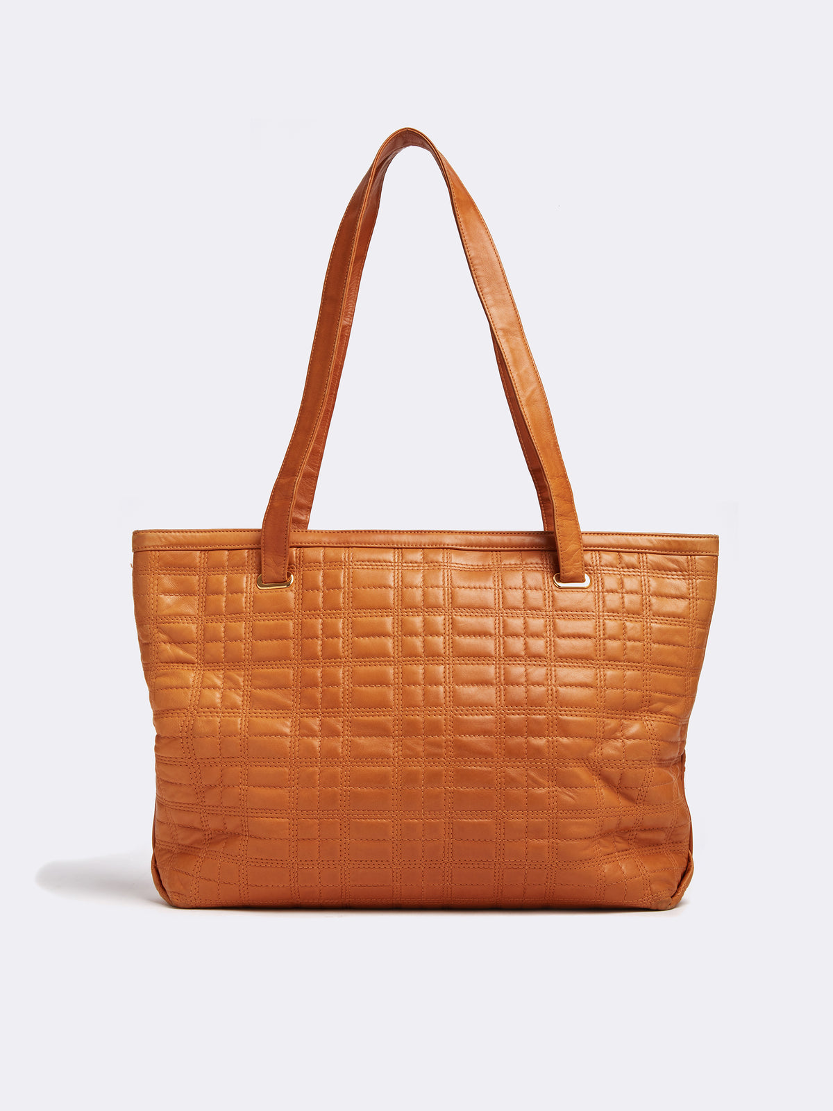 Vintage Quilted Leather Tote Bag