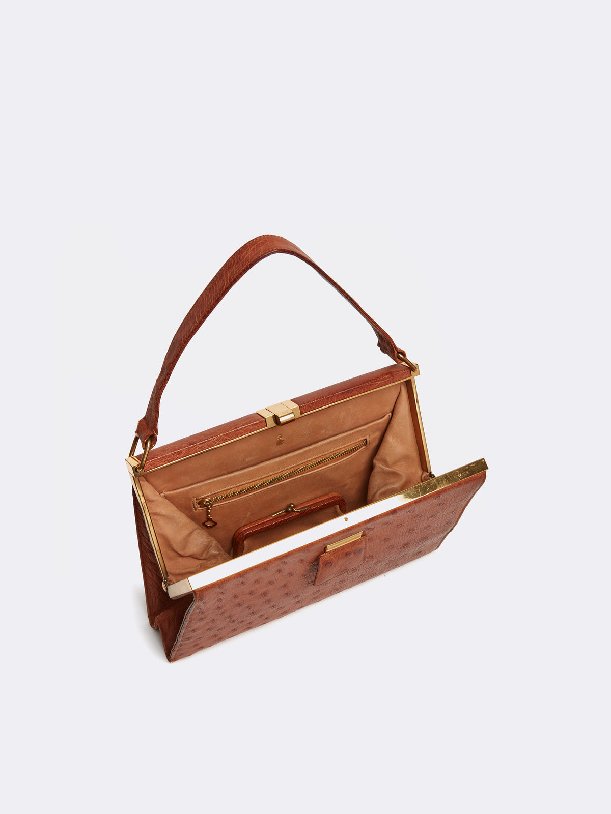 Archive Ostrich Top Handle Bag