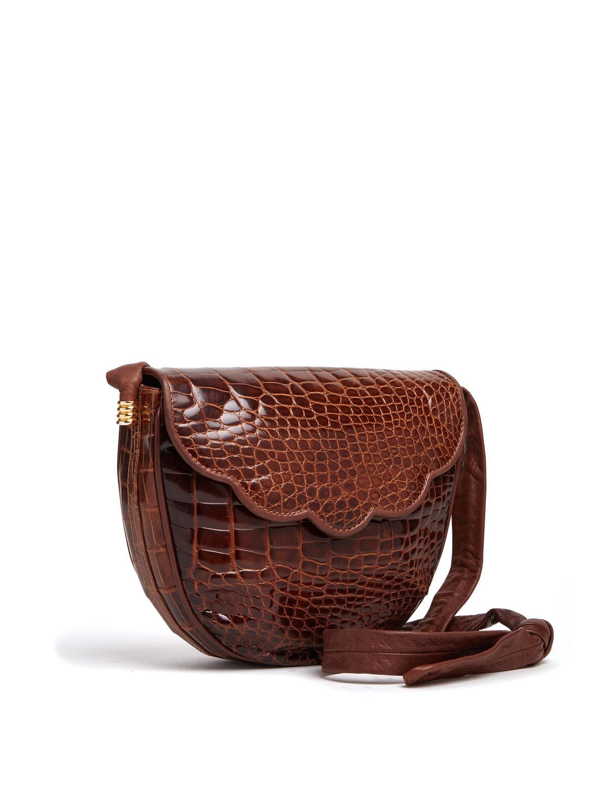 Vintage Crocodile Crossbody Bag