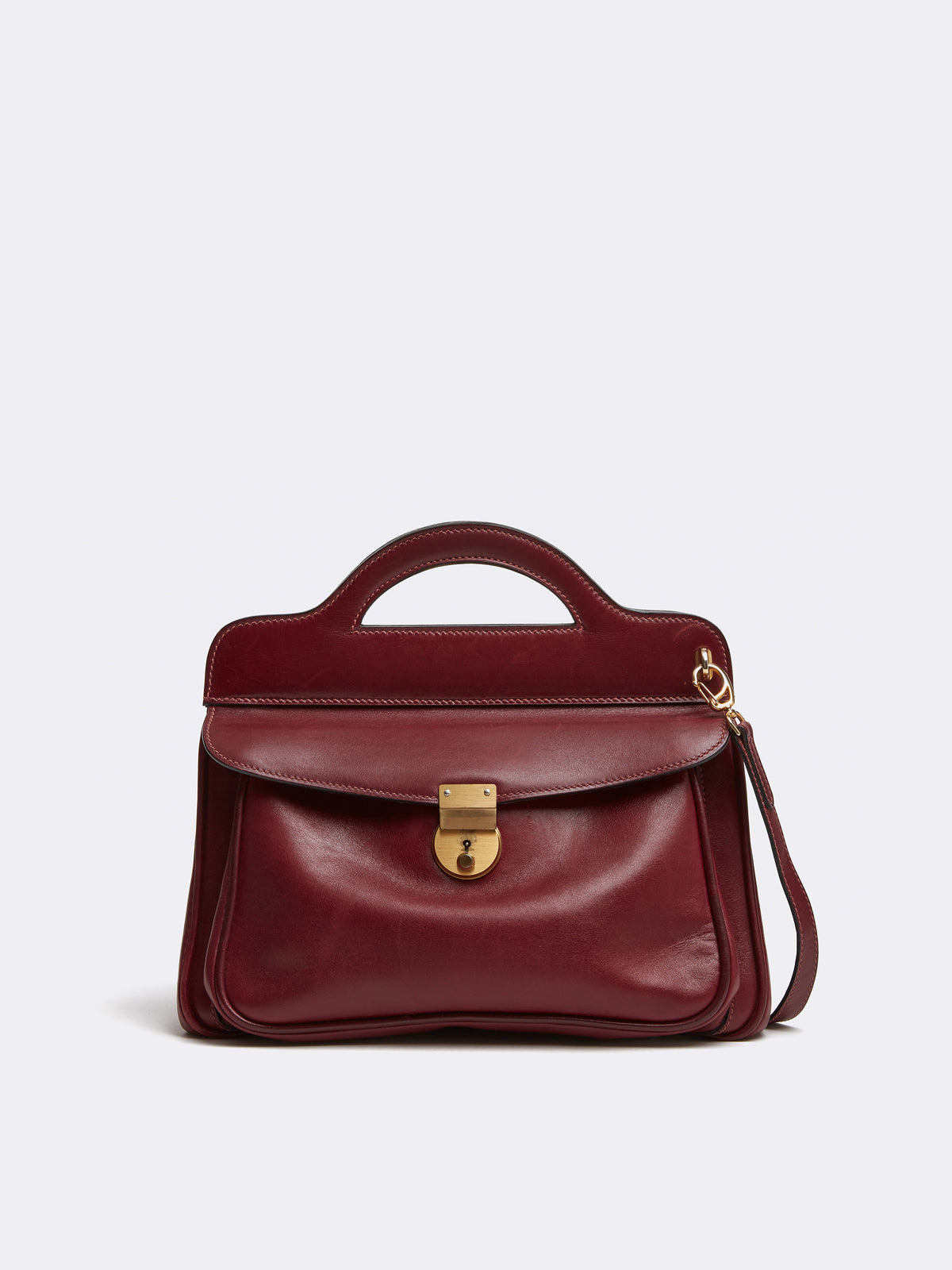 Mark Cross Vintage Leather Crossbody Bag Burgundy Front