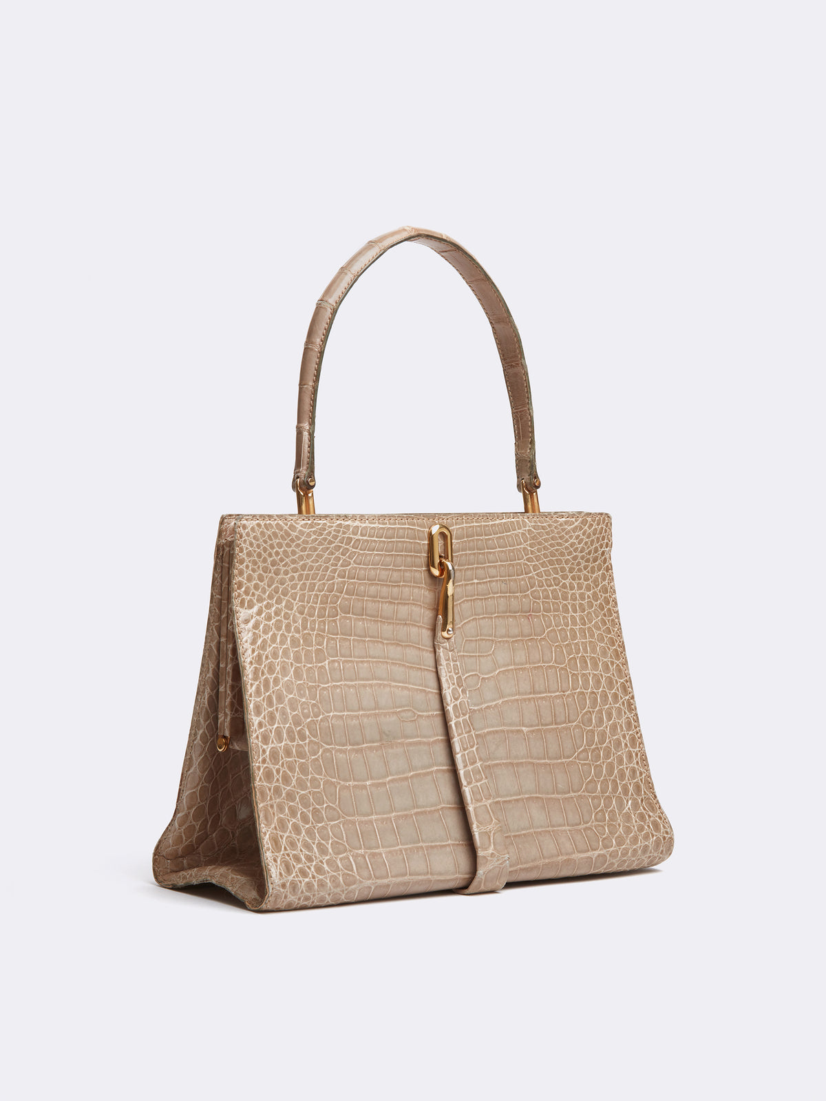 Archive Alligator Top Handle Bag