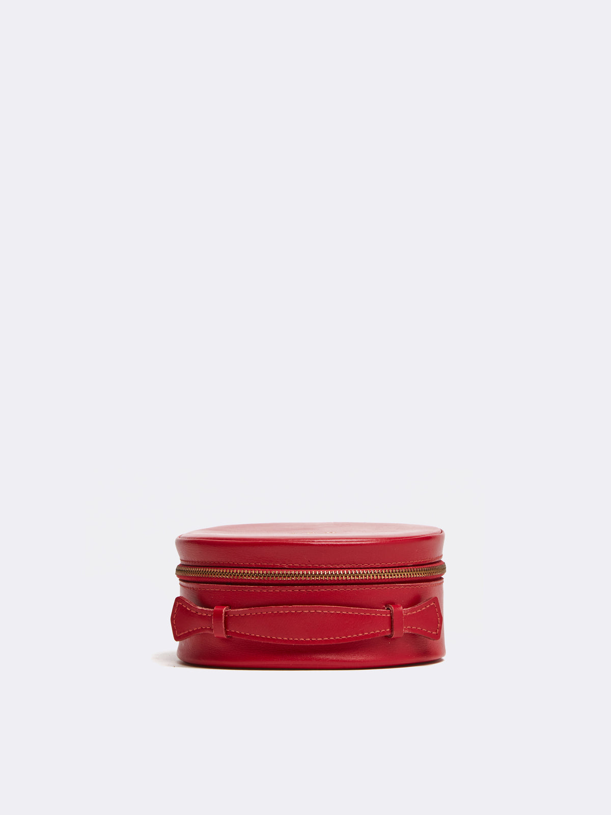 Mark Cross Archive Leather Jewelry Box Red Side