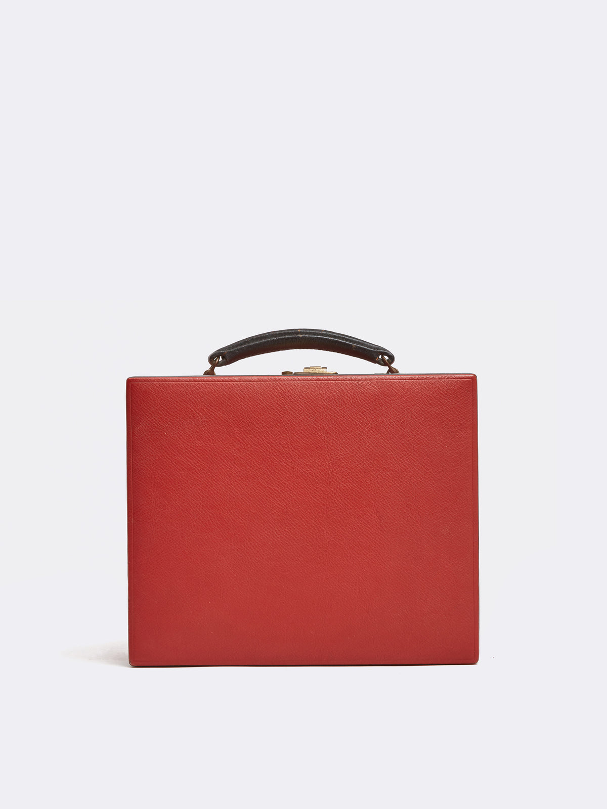 Mark Cross Archive Travel Kit Leather Red Front