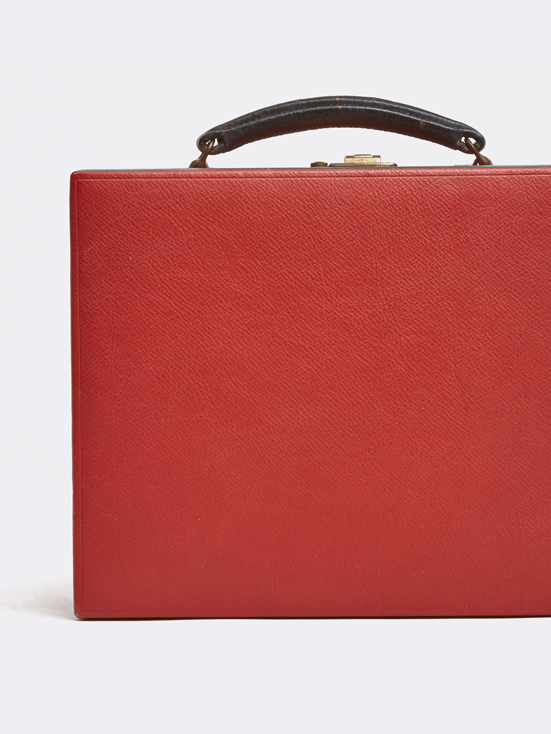 Mark Cross Archive Travel Kit Leather Red Detail