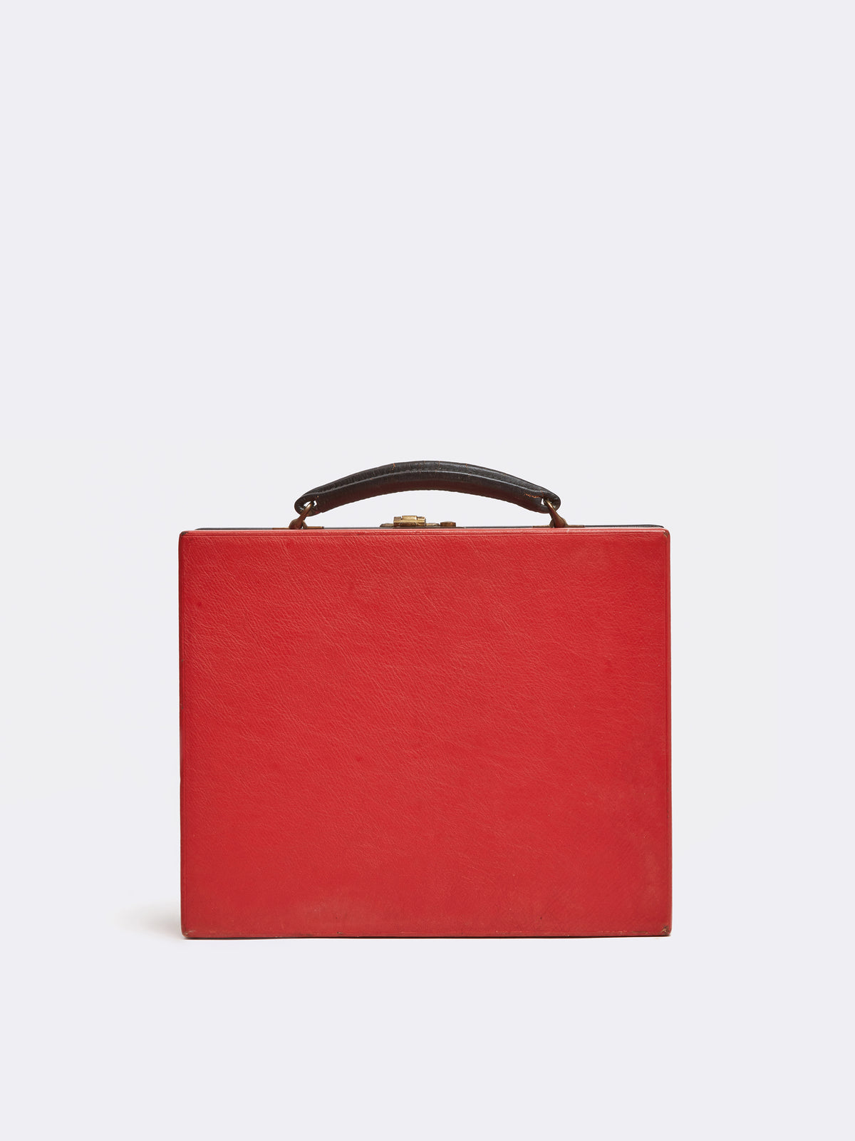 Mark Cross Archive Travel Kit Leather Red Back