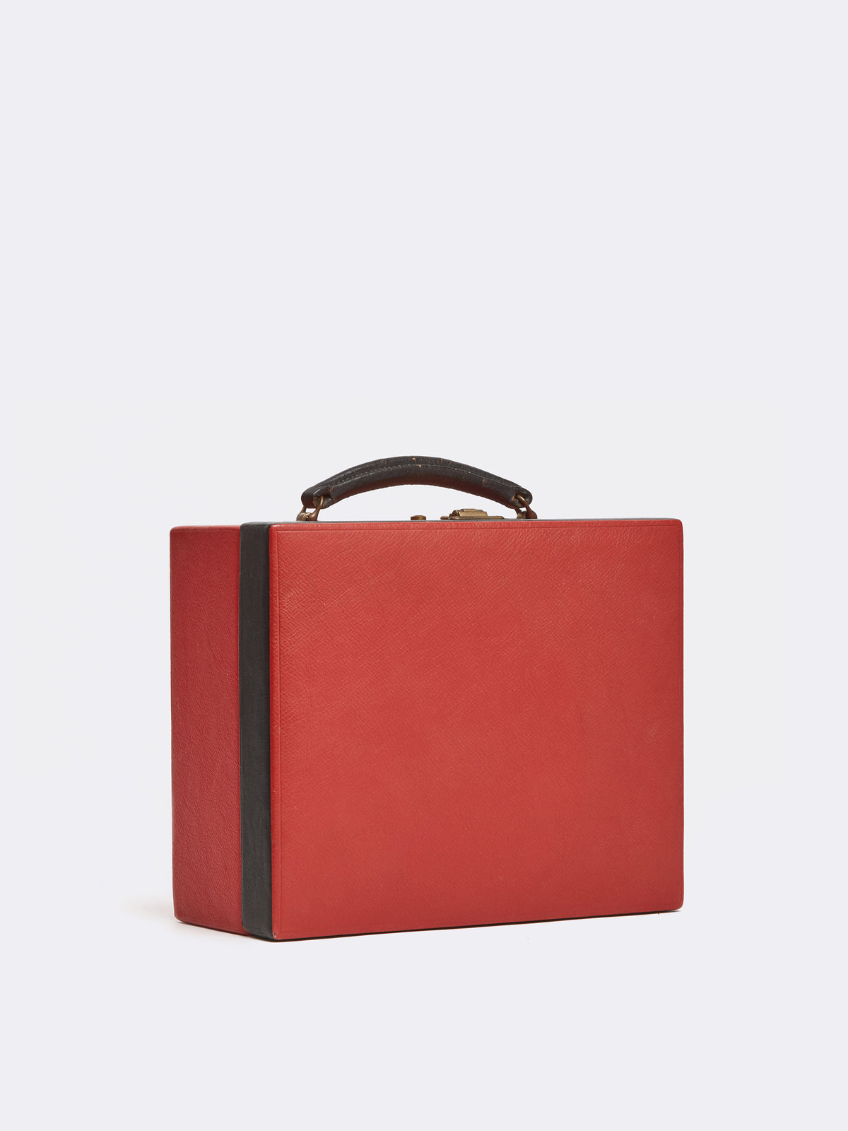 Mark Cross Archive Travel Kit Leather Red Side
