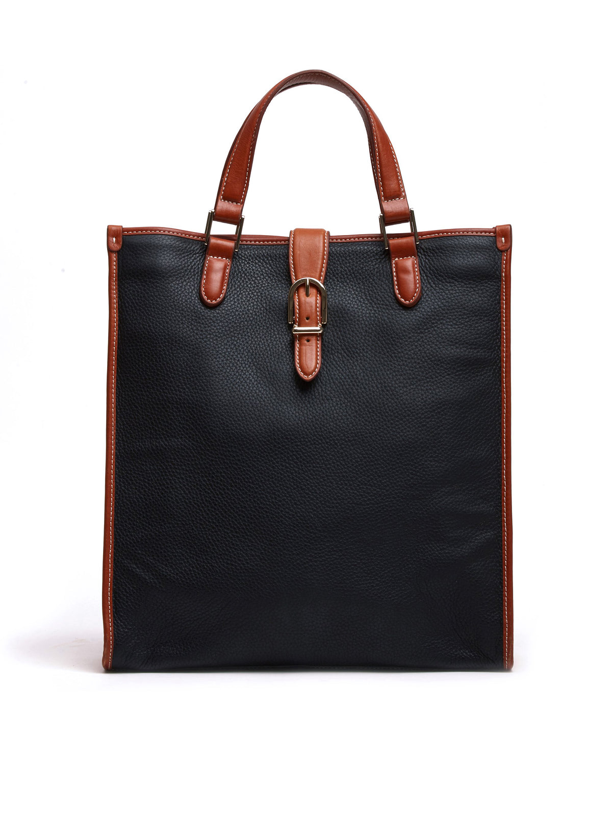 Mark Cross Vintage Leather Tote Bag Leather Cognac Front