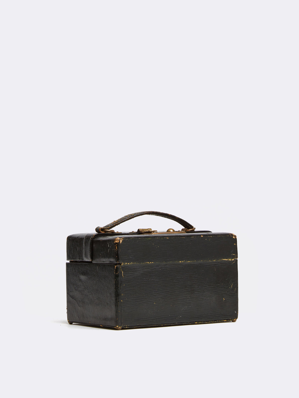 Mark Cross Archive Antique Travel Case Leather Black Side
