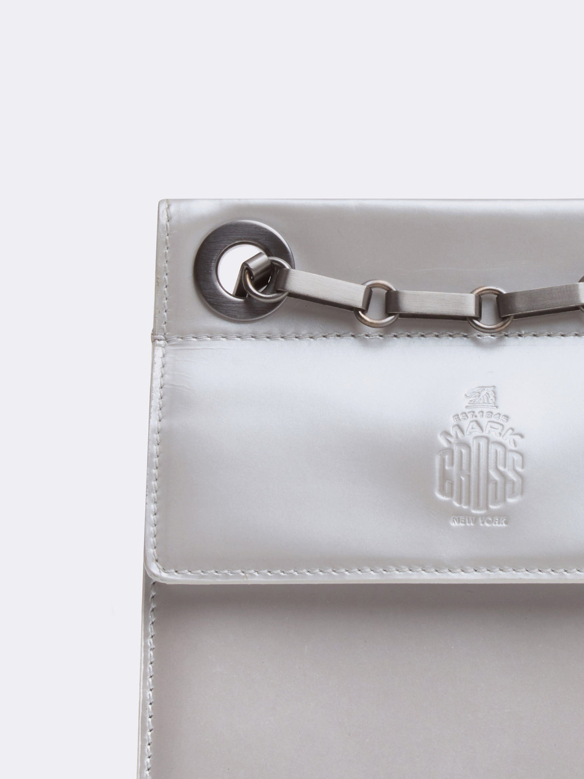 Mark Cross Vintage Leather Mini Chain Strap Bag Pearl Detail